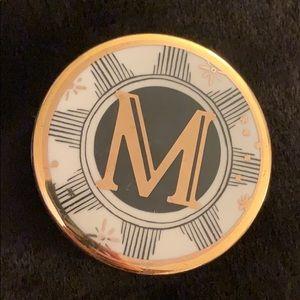 "NEW! ANTHRO 'Lyra' Ceramic Trinket Box, ""M"" NIB"